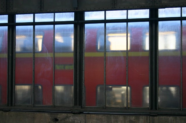 Journey of waiting XXXV: train behind window