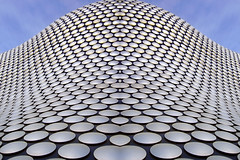Curvy Copy (lev) Tags: abstract building shop architecture photoshop silver shopping birmingham pattern photoshopped engineering bluesky manipulation ps selfridges form midlands perpsective