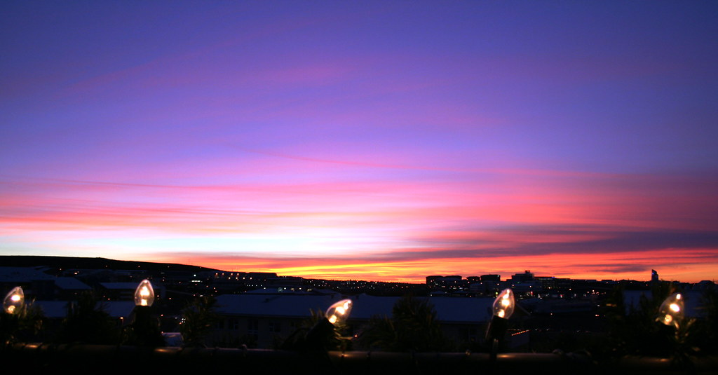 5 lightballs and 1 sunset
