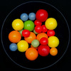 Where the sour turns to sweet (Rune T) Tags: candy square circle black red yellow green orange colors vivid wow topf25 squaredcircle