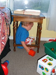 Mom! HELP! I can get out. (downunder nanook) Tags: cake um yummy house presant walking waliking cleaning drum drumming