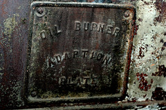 furnace wood oil hot heat stove burn burning cold dump raffaella wade garbage landfill found object foundobject rubbish