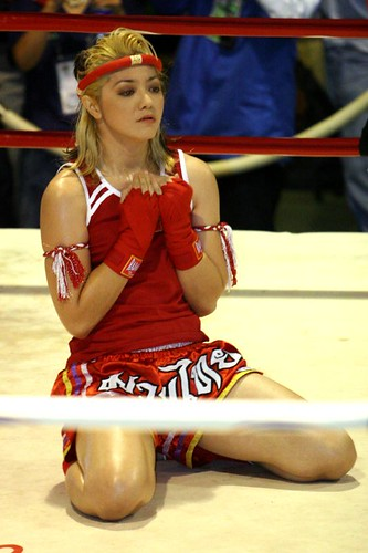 Boxing Sport Girl in action