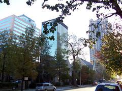 Downtown Birmingham, Alabama (James Willamor) Tags: street city urban tree tower skyline modern skyscraper office al birmingham downtown south alabama central center southern highrise 35205 cbd bhamref amsouth 6thaven midrise