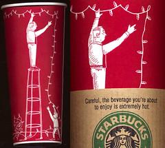 Starbucks rockin' war on xmas, 2005 (Coastal Elite) Tags: christmas xmas coffee café metal war holidays 666 starbucks devil noël controversy starbuck metalsign papercup papercups starbuckscup starbuckscups waronchristmas grandpaworshipsatan waronxmas starbuckscontroversy