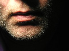 (O Caritas) Tags: selfportrait me face self mouth beard lips unshaven desklamp ocaritas dscn3457 2005bypatricktpowerallrightsreserved