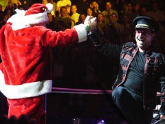 Bono Dancin' With Santa Claus, 12\05\05, Boston, MA, TD Banknorth Garden (bonobaltimore) Tags: u2 bostonma rw tdbanknorthgarden vertigotour2005 bonobaltimore december52005 michaelkurman mikekurman
