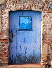 Can Mis - Sant Gregori (beagle34) Tags: door blue porta blau llemena panasonicfx7 beagle34