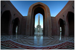 Grand Architecture (HaMeD!caL) Tags: sultan qaboos grand mosque muscat oman architecture hamedical fisheye