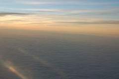 sunset above the clouds (jemione) Tags: airplane airport japan narita astra trip view sunset 50mm f18d