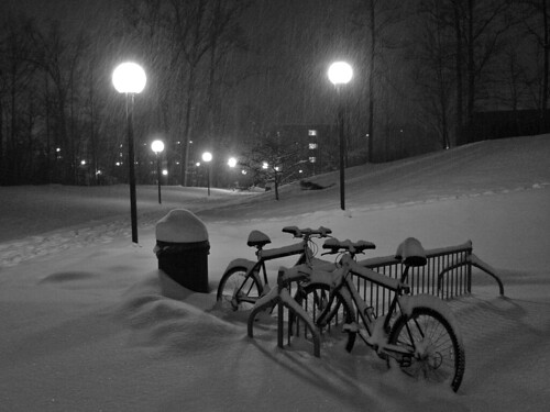 Bikes,  Lights & a Sledder