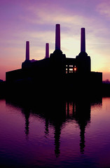 Battersea Power Station (naughton321) Tags: sunset red reflection london love monument beautiful animals silhouette thames architecture wow wonderful river amazing fantastic bravo chelsea purple quality great favme 100v10f pinkfloyd pi excellent lovely battersea monolith powerstation batterseapowerstation tremendous listedbuilding nikonstunninggallery