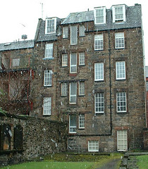 Dunbars Close from Canongate burying ground