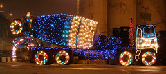 Christmas in Cement (quinet) Tags: cementtruck christmas lights decorations festive williewonkasgarbagetruck