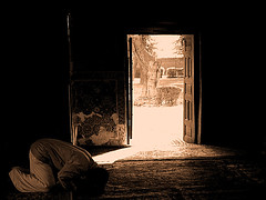 Pakistani prayer in Ghadamgah (HORIZON) Tags: horizon persia iran neyshabour ghadamgah imamreza