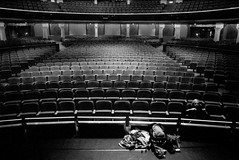 julia & steve (lomokev) Tags: blackandwhite bw film canon theater julia rehearsal steve seats dome stomp eos1 juey thedome replaced file:name=eos11105e12 submittedtojpg flickr:user=juey