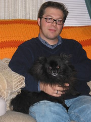 Andrew holds Bear (cinnachick) Tags: andrew bear pomeranian