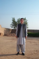 In Pathani dress inc. shoes