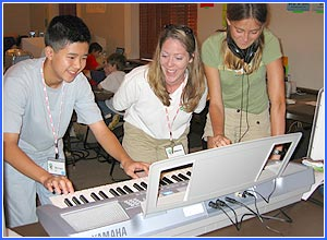 Summer 2003: Becky and my DME students at iD