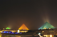 Medium, Large, or Super Size? (TIMVANdotCOM) Tags: show longexposure light color up night nocturnal darkness pyramid egypt cairo nighttime sound lit timothy top20 atnight giza timedexposure citynight citycolor urbanlight nightcolor hotnacho lightcolor urbancolor