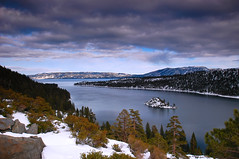 Emerald Bay (wmchu) Tags: california winter 15fav lake snow 1025fav ilovenature top20winter laketahoe 100v10f emeraldbay