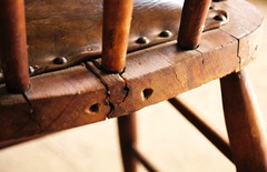 take a seat (normaltoilet/ LSImages) Tags: wood old kitchen wooden chair holes antelopeisland cracked tacks