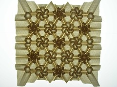 Star/flower tessellation, flower side, backlit