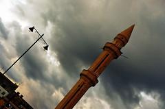 The Rocket Mosque (Délirante bestiole [la poésie des goupils]) Tags: travel sky lebanon cloud clouds war mosque rocket bullet liban notpicked saïda