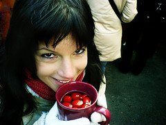 strawberries (*helmen) Tags: cameraphone vienna wien red portrait people woman color cute green cup topf25 girl beauty smile topv111 topv2222 wow catchycolors phonecam camphone austria strawberry topf50 topv555 topv333 europe k750i sweet outdoor sonyericsson awesome topv1111 topc50 topc75 topv999 topv444 cellphone topv222 topv777 punch 300 viena topv3333 topv4444 strawberrys topv888
