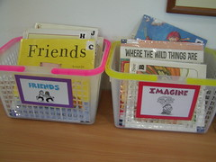 Subject baskets of books