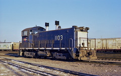 MoPac 1103 Switch Engine - 1979 (kocojim) Tags: railroad diesel stlouis engine trains mo missouri locomotive mopac emd kocojim sw1200