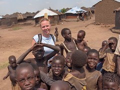 Melanie and Children at Pabbo IDP Camp (John & Mel Kots) Tags: camp children tents war child conflict uganda northern humanitarian lra eastafrica warzone gulu northernuganda idp pabbo lordsresistancearmy idpcamps meljohn conflictzone