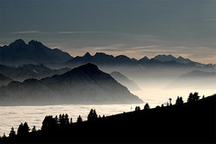 above (idogu) Tags: winter mist mountains sunshine silhouette fog 1025fav 510fav ilovenature switzerland bravo 2550fav 50100fav summit topv777 february 1000v100f topf100 winterland mordor rigi xxxxx topvaa 100fav 1show websetfavorite selectshow