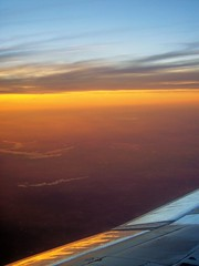 sunsetplane2 (ScarletFaerie (K. Wood Photography)) Tags: sunset sky tag3 taggedout plane airplane tag2 tag1 air wing