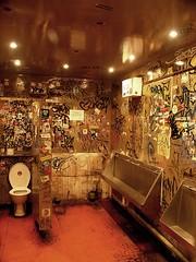 """the dirtiest toilet in scotland"" (ManyFacedTBone) Tags: uk red music streetart london iso800 grafitti films wallart toilet movies clubs tagging scenes trainspotting venues interestingness2 i500 hiddenlondon thedirtiesttoiletinscotland"