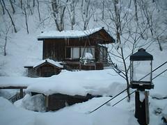 Brrrrrr! (Keki Daisuki) Tags: winter mountain snow cold lamp japan aomori icicle onsen hotspring spa oillamp aonionsen