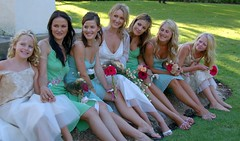 Lara and her Attendants (RobW_) Tags: wedding southafrica legs 2006 bridesmaids lara february stellenbosch spier moyo collard attendants feb2006 04feb2006 pieret sethlara
