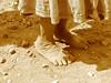 Zapatos de arena (Arantxata) Tags: woman méxico mexico mujer noiretblanc poor forsakenpeople pies michoacán santarosa indigenous pobreza indígena descalzo piesdescalzos sinzapatos judgmentday54