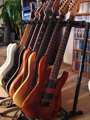 half of them (rick) Tags: sanfrancisco home rockstar guitar guitars 2006 jackson livingroom fender universe strat 777 esp stratocaster ibanez mii pc1 p4 charvel jpm philcollen kineto carvin 7string jpmp4