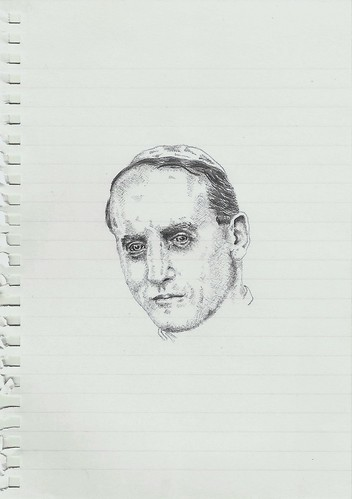 Zavier Ellis 'Mad Nazi Priest Drawing # 3', 2014 Pencil on paper 21x14.8cm