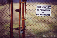 Private Property (AP Imagery) Tags: fence lock indiana locked rockport abaondoned riverterminal