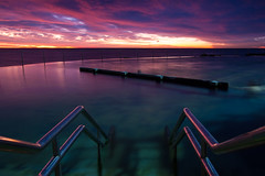 Steps into Bronte pool || Sydney (David Marriott - Sydney) Tags: pool clouds swimming sunrise canon dawn long exposure angle wide steps sydney australia nsw 7d swimmer newsouthwales ladder swimmers bronte