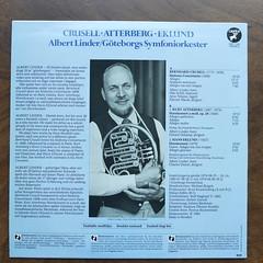 Backside Crusell - Sinfonia Concertante & Atterberg - Hornkonsert op.28 & Eklund - Hornkonsert - Albert Linder Horn, Goteborgs Symfoniorkester, Rikskonserter, Caprice CAP 1144, 1978 1979 1980 1982 (Piano Piano!) Tags: art cover lp sleeve hoes 12inch plaat langspeelplaat rikskonserter crusellsinfoniaconcertanteatterberghornkonsertop28eklundhornkonsertalbertlinderhorn goteborgssymfoniorkester capricecap1144 1978197919801982 coverarthoeshulle12inch discdisquerecordalbumlplangspeelplaatgramophoneschallplattevynilvinyl