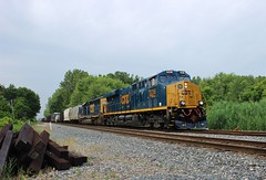 CSX 3236 & 8055 (Railfan1981) Tags: railroad michigan wayne trains csx manifest gevo 3236 es44ach q392