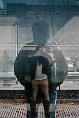 L'un dans l'autre (Philippe Gillotte) Tags: selfportrait reflection station autoportrait bordeaux tram reflet villedebordeaux