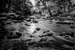 Paper Mill Brook Black and White Watermark (Schaum Photography) Tags: blackandwhite blackwhite nikon long exposure connecticut newengland ct extended nikkor amateur smalltown newmilford amateurphotographer nikkor1855mm exporsure nikonphotography nikond3100