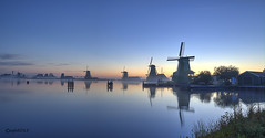 Early in the morning. (alamsterdam) Tags: sunrise reflections zaanseschans