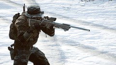 Snowy action (The Lanky Soldier) Tags: road light snow mountains digital forest dark soldier photography daylight video high amazing war day quality military awesome 4 engine games videogames weapon sniper definition stunning aim battlefield detailed calmness lanky frostbite recon battlefield4 lankysoldier