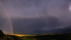 I found the pot of gold! (miss.interpretations) Tags: storm clouds evening rainbow skies gardenofthegods overcast stormy coloradosprings myth potofgold