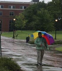 Happy Man with Happy Umbrella